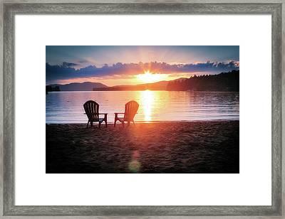 Sunset On Fourth Lake Framed Print