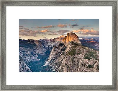 Sunset On Half Dome Framed Print