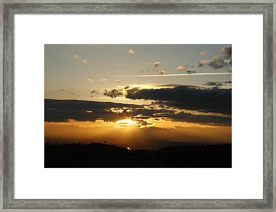 Sunset On Hwy 32 Framed Print by Suzanne Lorenz