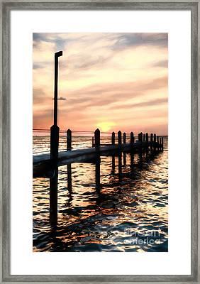 Sunset On Islamorada # 4 Framed Print by Mel Steinhauer