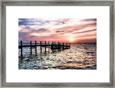 Sunset On Islamorada # 5 Framed Print by Mel Steinhauer