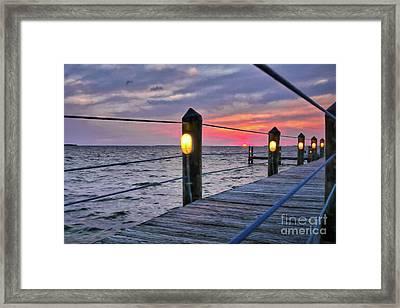 Sunset On Islamorada Framed Print by Mel Steinhauer