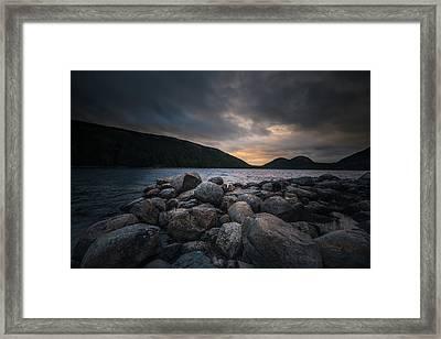 Sunset On Jordans Pond Framed Print by Chris Fletcher