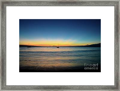Framed Print featuring the photograph Sunset On Ka'anapali Beach by Kelly Wade