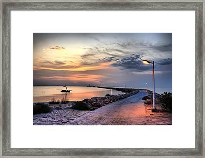 Sunset On Kerkennah Island Framed Print by Aleksey Napolskih