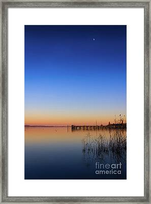 Sunset On Lake Constance II Framed Print by Bernd Laeschke