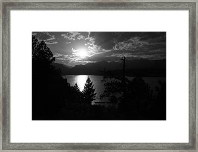 Sunset On Lake Estes Framed Print