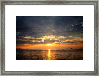 Sunset On Lake Hartwell Framed Print
