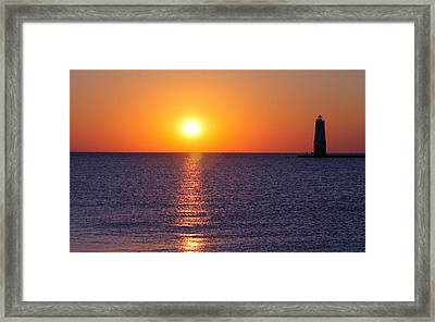 Framed Print featuring the photograph Sunset On Lake Michigan by Bruce Patrick Smith