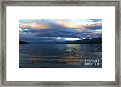 Sunset On Okanagan Lake Framed Print