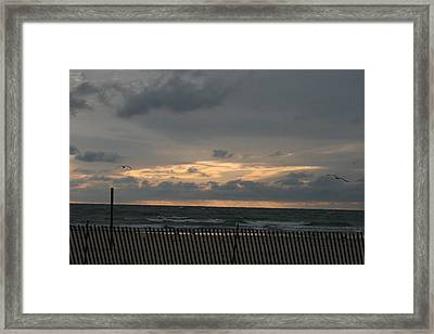 Sunset On Lake Framed Print by Sara Summers