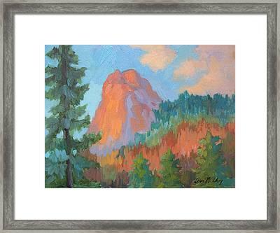 Sunset On Lily Rock Framed Print