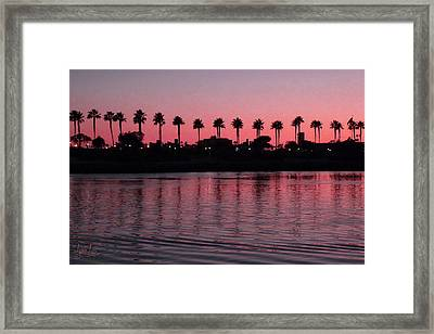 Sunset On Long Beach Bay Framed Print by S Lynn Lehman