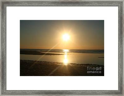 Sunset On Mayflower Beach Framed Print by Amy Holmes