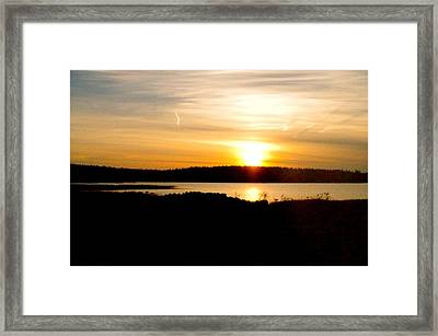 Sunset On Morrison Beach Framed Print by Jason Lees