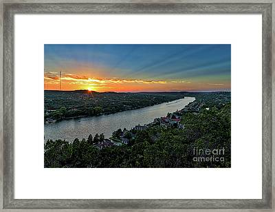 Sunset On Mount Bonnel Framed Print by Tod and Cynthia Grubbs