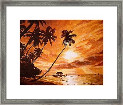 Sunset On Paradise Cove Framed Print
