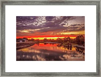 Sunset On Payette River Framed Print by Robert Bales
