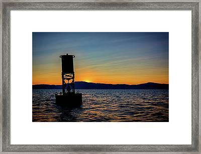 Sunset On Penobscot Bay Framed Print