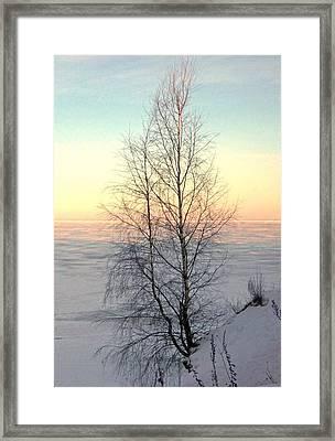 Sunset On Pepsi Lake Framed Print