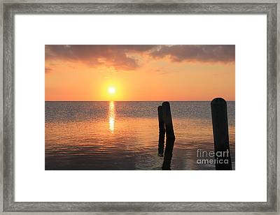 Framed Print featuring the photograph Sunset On Pimlico Sound by Laurinda Bowling
