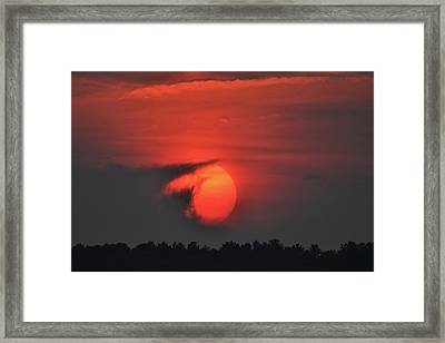 Sunset On Plum Island Framed Print by Nancy Landry