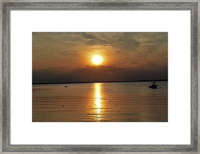 Sunset On Pocasset Framed Print