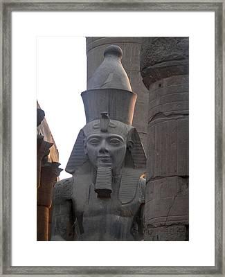 Sunset On Ramesses The Great Framed Print by Richard Deurer
