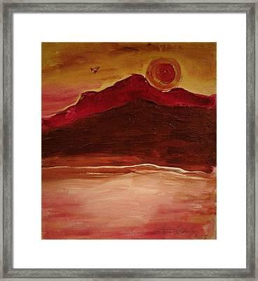 Sunset On Red Mountain Framed Print