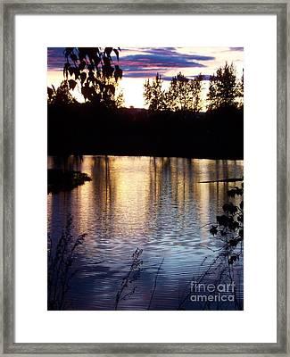 Sunset On River Framed Print