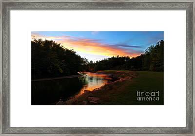 Sunset On Saco River Framed Print