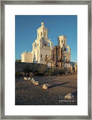 Sunset On San Xavier Del Bac Framed Print
