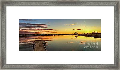 Sunset On Sawyer Framed Print by Robert Bales