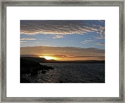 Sunset On The Antrim Coast Road. Framed Print