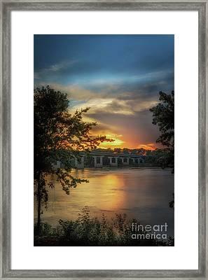 Sunset On The Arkansas Framed Print