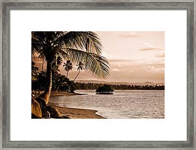 Sunset On The Bay 2 Framed Print by Mark Bradley