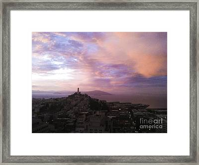Sunset On The Bay Framed Print