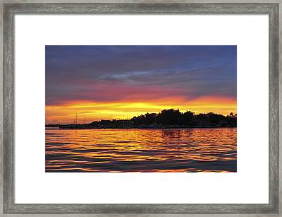 Sunset On The Bay Island Heights Nj Framed Print