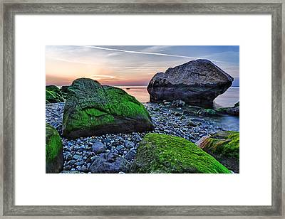 Sunset On The Beach At Horton Point Framed Print by Rick Berk