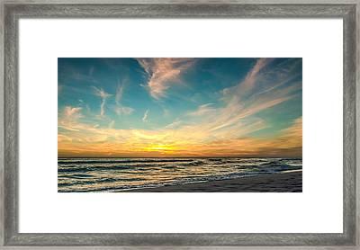 Sunset On The Beach Framed Print by Phillip Burrow