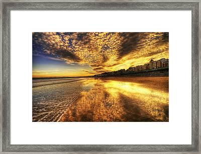 Sunset On The Beach Framed Print by Svetlana Sewell