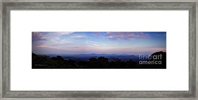 Sunset On The Blue Ridge Framed Print