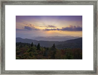 Sunset On The Blue Ridge Parkway Framed Print by Rob Travis