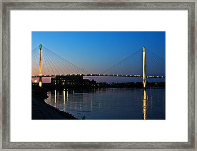 Sunset On The Bob Kerry Pedestrian Bridge Framed Print