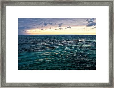 Sunset On The Caribbean Framed Print