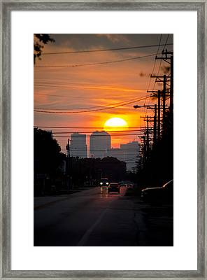 Sunset On The City Framed Print