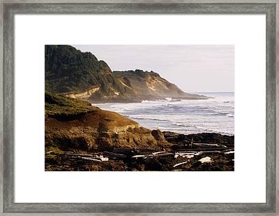 Sunset On The Coast Framed Print by Marty Koch