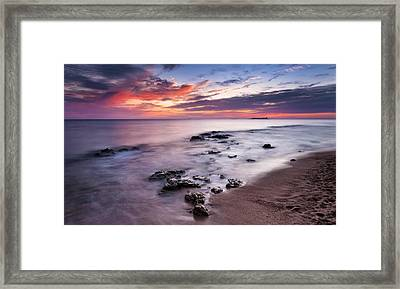 Sunset On The Coast Of Chiclana Framed Print