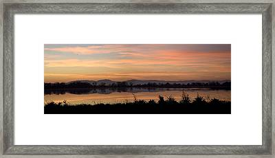 Sunset On The Coast Range Framed Print by Charlie Osborn