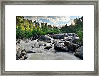 Sunset On The Colorado Framed Print